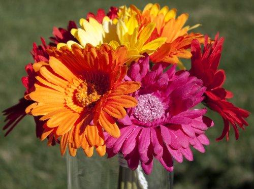 Gerbera Daisy Bouquet - (Silk Gerber Daisies)