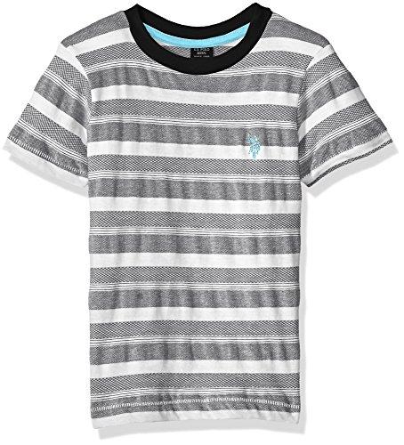 U.S. Polo Assn. Boys Short Sleeve Fancy Crew Neck T-Shirt