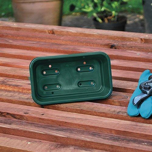 10 X GARLAND MINI SEED TRAY GREEN GARDEN GREENHOUSE HYDROPONICS 17X10X5CM G35