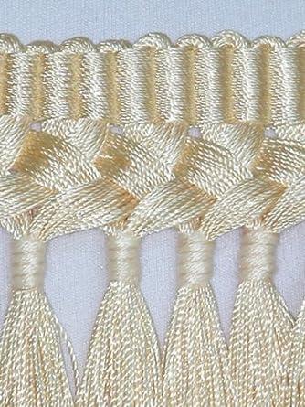 "5 1//2/"" Superior Silky Braid Tassel Bullion Fringe Trim Gold Per Yard"