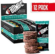 FBOMB Real Food Snack Bars: Clean, Low Carb, Natural Ingredients | Paleo & Keto Snack Bar | Gluten Free, Dairy Free, Non-GMO
