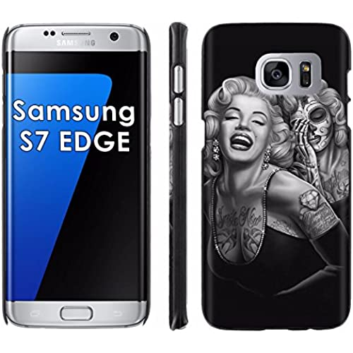 Samsung Galaxy [S7 EDGE] Phone Cover, Day of the Dead- Black Slim Clip-on Phone Case for [Samsung Galaxy [S7 EDGE]] Sales