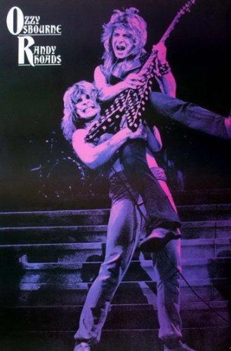 J-1119 Ozzy Osbourne and Randy Rhoads Heavy Metal Rock Band Music Wall Decoration Poster Size 24