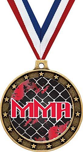 Martial Gold Arts Medal - Mixed Martial Arts Gold Medals - 2 1/2