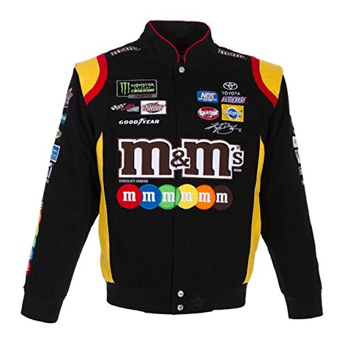 Kyle Busch M&M Black Cotton Jacket Size 2XLarge (Kyle Busch Nascar Jackets)