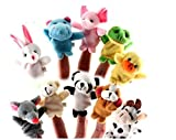 Sensei Play n Learn Finger Family Puppets - People & Animals - 16 pcs - Finger Puppets Zoo Animals & Family Puppets For Kids, Babies, Toddlers & The Whole Family