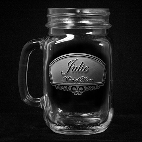 Wedding Mason Jar Mugs, Bridesmaid Gift Ideas, Engraved Favors, SET OF - Called Glasses Handles