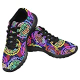 InterestPrint Women's Jogging Running Sneaker Lightweight Go Easy Walking Casual Comfort Sports Running Shoes Size 6 Round Color Spots