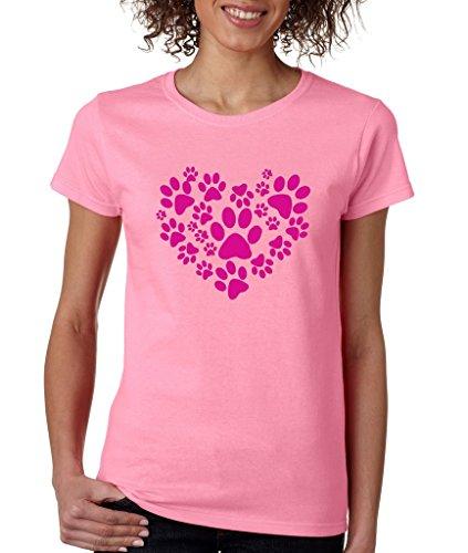 Paw Heart Ladies T-Shirt Animal Love Shirts