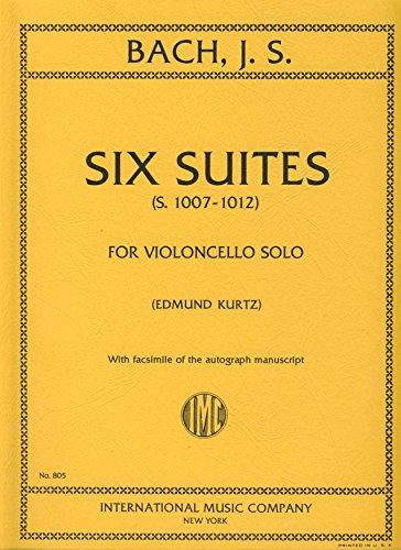 BACH - Suites (6) para Violoncello solo (Inc.Facsimil) (Kurtz)