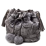 Best Donalworld Messenger Bags - Donalworld Women Faux Fur Leopard Bucket Bag Casual Review