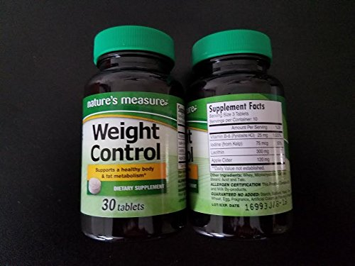 2 Pack of Nature's Measure Weight Control (30 tablets x 2 = 60 tablets) - Control Measures