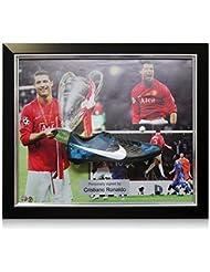 Cristiano Ronaldo Signed Framed Football Boot: Manchester United Presentation