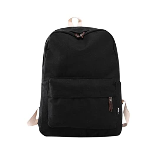 99afece5fa Image Unavailable. Image not available for. Color: Clearance Sale! Women  Girls Canvas Preppy Shoulder Bookbags School Travel Backpack ...