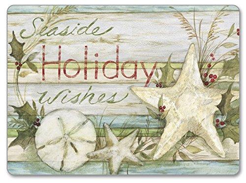 CounterArt Hardboard Placemat (Set of 2), Seaside Holiday ()