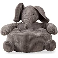 tag - Elephant Corduroy Plush Chair, Perfectly Designed for Your Childs Room or Nursery, Gray