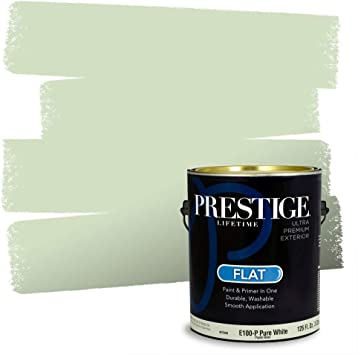 Amazon Com Prestige Paints E100 P Sw6722 Exterior Paint And Primer In One 1 Gallon Flat Comparable Match Of Sherwin Williams Cucumber 1 Gallon Sw100 Cucumber Home Improvement