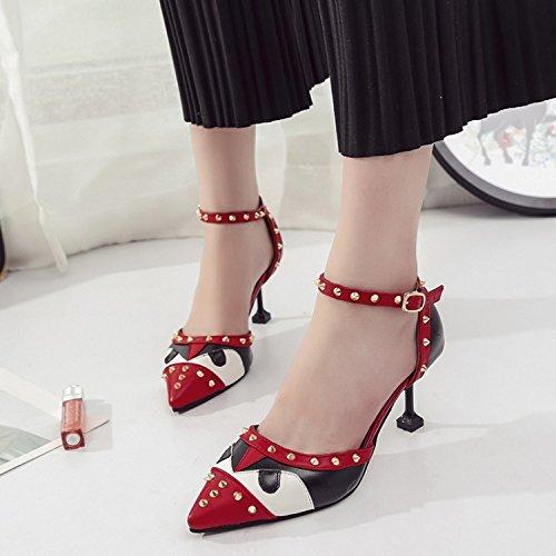 rosso bene punta per Donna appuntita giunto Il versatile Calzature 35 ragazza Calzature e elegante dei con sandali wfqI5ZCx