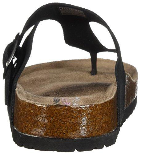 Chancla Negro de Pyramids Skechers41076 Estrecha Para Granola Mujer Hebilla Tira con vqRAAEw