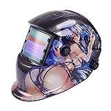 Tiptiper Darkening Welding Helmet, Auto Darkening Welding Helmet Mask UV Protection IR Protection
