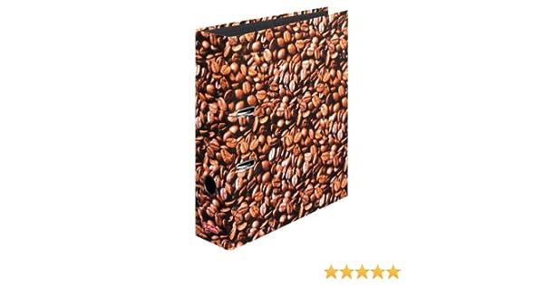 Herlitz 10507812 S80 - Clasificador de documentos (A4), diseño de café: Amazon.es: Oficina y papelería