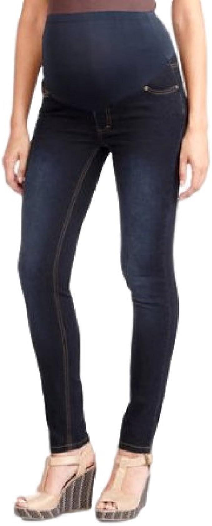 NEW LOOK Black Maternity Over Bump Jenna Jeans Pregnancy Skinny Jeggings Size 8