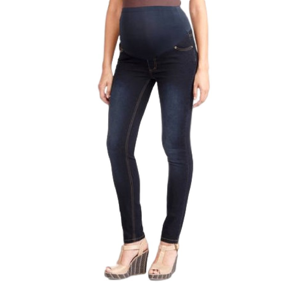 0b02c40c80094 RUMOR HAS IT Maternity Over The Belly Super Soft Stretch Skinny Jeans at  Amazon Women's Clothing store: