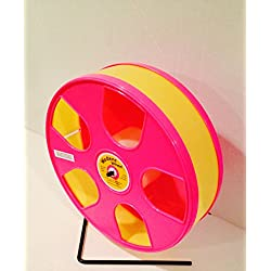 "11"" Diameter Wodent Exercise Wheel (Pink & Yellow)(overall height 12.3"")"