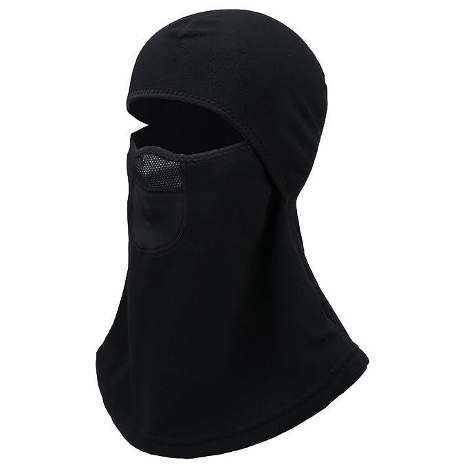 Men & Women Balaclava Ski Mask, Winter Fleece Thermal Balaclava face mask  Black# One