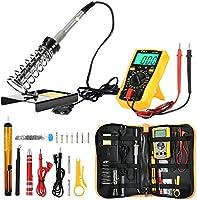 Joyhero Kit de Soldador Eléctrico y Multímetro Numérico, Set de Soldador Electrónica de Estaño Temperatura Ajustable...