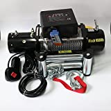 RACPLUS Classic 9500lbs 12v Electric Recovery Winch Truck SUV Trailer Wireless Remote Winches