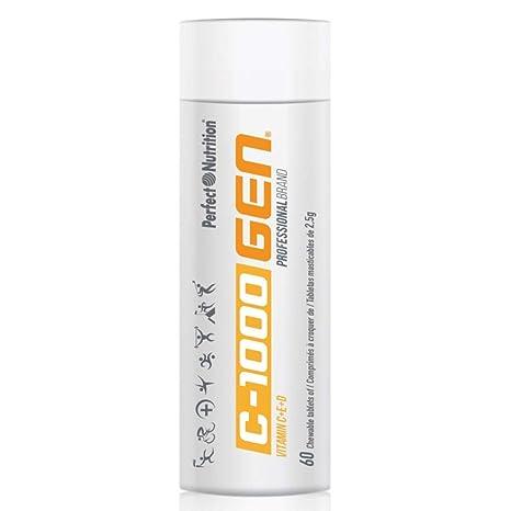Vitamina C + E + D Masticable alta concertación 60 comprimidos de 2500mg tratamiento multivitaminico para