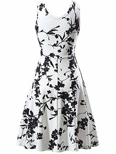 Sleeveless FENSACE A Summer Floral 18034 Dress Women's Line 5 zaaqtxf