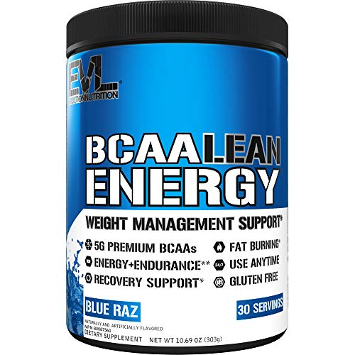Evlution Nutrition BCAA Lean Energy - Energizing Amino Acid for Muscle Building Recovery and Endurance, with a Fat Burning Formula, Vitamin C & B Complex, 30 Servings