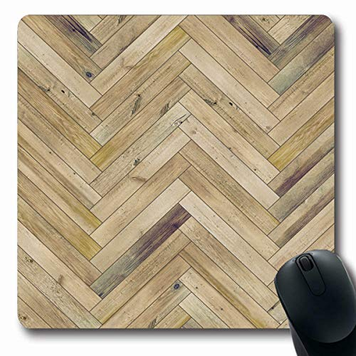 LifeCO Computer Mousepads Arrow Beige Pattern Wood Parquet Herringbone Old Chevrteriors Ash Beechwood Floor Flooring Design Oblong Shape 7.9 x 9.5 Inches Oblong Gaming Mouse Pad Non-Slip Rubber ()