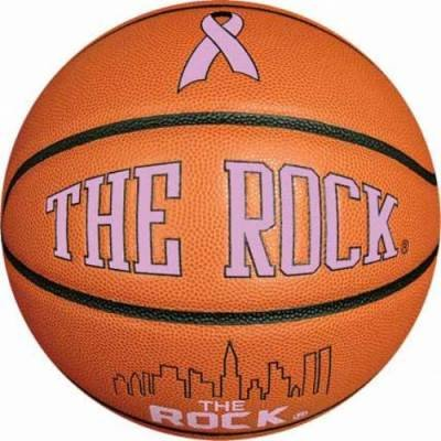 The Rock Pink Ribbon Basketball Men's (Ribbon Rock)