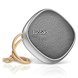 Portable Bluetooth 4.2 Speaker Yoobao Small Outdoor Home Wireless Travel Speaker with HD Sound and Bass, 2000mAh Battery 33 Ft Range Handsfree Call Built in Microphone, for Phone,Echo,Tablet etc-Gray