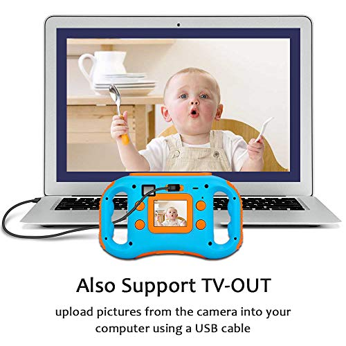 iBosi Cheng WiFi Kids Camera, 1080P HD Digital Anti-Drop Children Camera Camcorders with 1.77 Inch LCD Display,5X Digital Zoom,Flash and Mic, 16GB TF Card Included,Creative Birthday Gifts for Kids by iBosi Cheng (Image #4)
