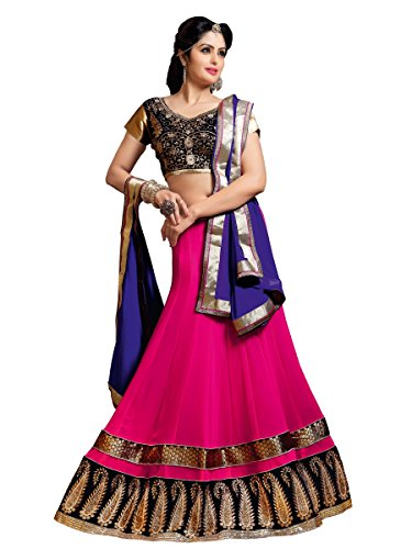 Vibes-Womens-Fashionable-Georgette-Un-Stitched-Party-Wear-Lehenga-Choli