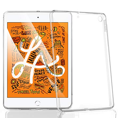 Case for 2019 iPad Mini 5 7.9 inch [ 5th Generation 2019 ] Clear Soft TPU Back Cover, HBorna Transparent Silicone Case for iPad Mini 5 7.9'' (2019 Release)