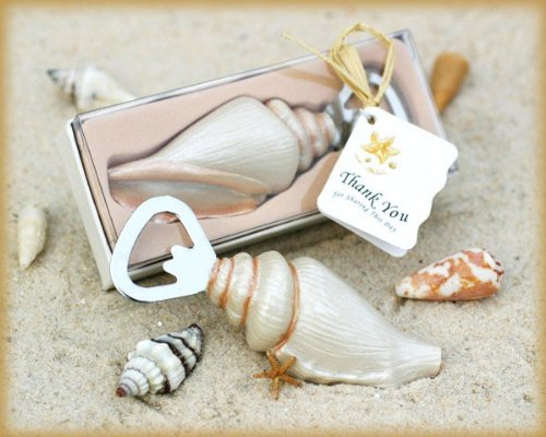Shore Memories' Sea Shell Bottle Opener with Thank you Tag - Total 48 sets ()