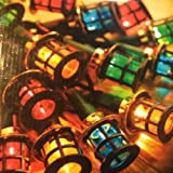 80 LED Christmas MainsLights , Lanterns Indoor Or Outdoor Use (Multi Coloured Outdoor LED Lantern Lights)