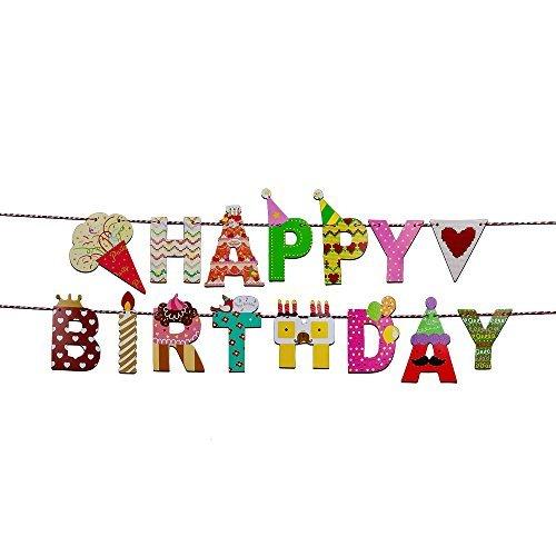 Willcan Happy Birthday Banner - Birthday Decorations - Premium Quality Birthday Party Decorations Birthday Kids (Icecream)