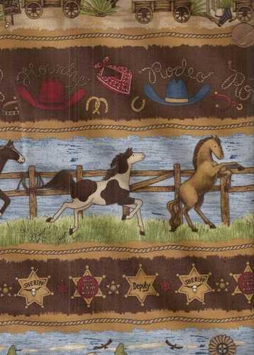 Debbie Mumm Cotton Fabric - Roundup Stripe Debbie Mumm South Seas Western Fabric