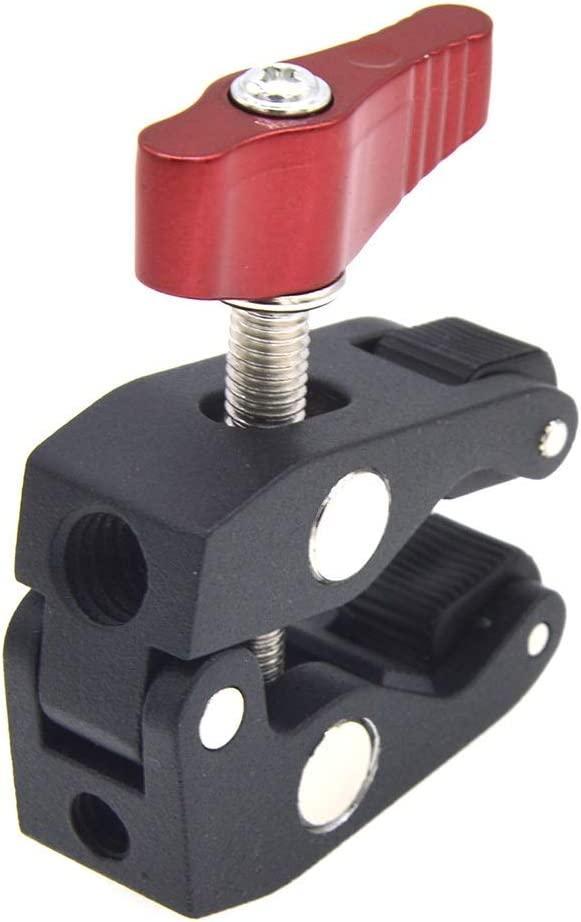 Mini Multi-Function Camera Super Clamp Ball Mount Clamp Magic Arm Clamp w// 1//4-20 Thread for GPS Phone Monitor Video Light