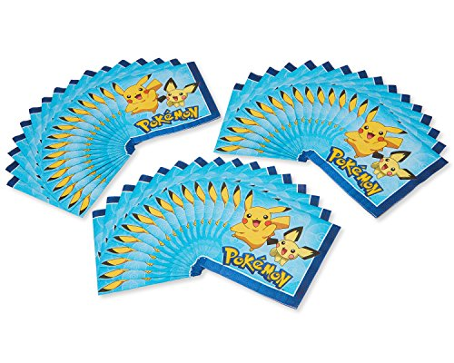 American Greetings Pokemon Paper, 48-Count, Lunch Napkins by American Greetings