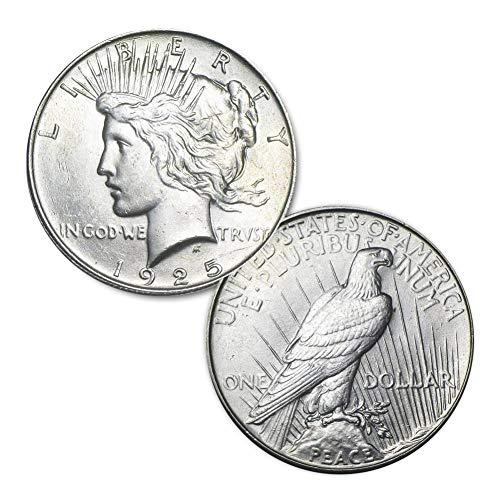 (1925 P Peace Silver Dollar $1 Brilliant Uncirculated)