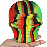 HAOER 1PCS 500ml Biggest Skull Shape Non-stick Silicone Dab Container Wax Jar Oil Box Stoarge Canister(500ml)
