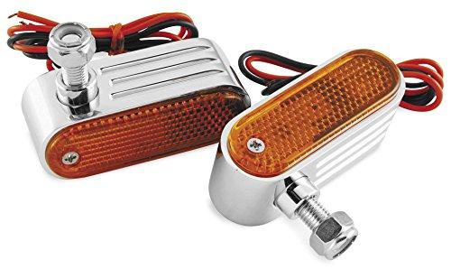 Chrome Suburban Marker Light - BikeMaster Chrome Amber Marker Lights 9130