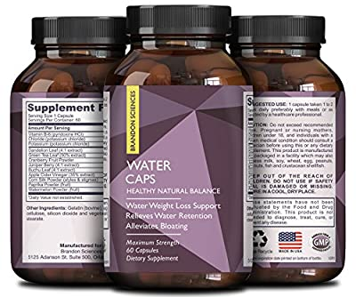 Weight Loss + Water Pills for Bloating - Green Tea & Dandelion Benefits - Vitamin B6 & Apple Cider Vinegar - Dietary Supplement + Natural Vitamin - Appetite Suppressant - USA Made By Nature Bound